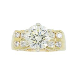 14KT Yellow Gold 2.50ctw Diamond Ring