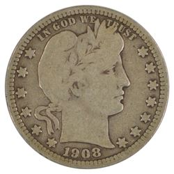 1908-S Barber Quarter Coin