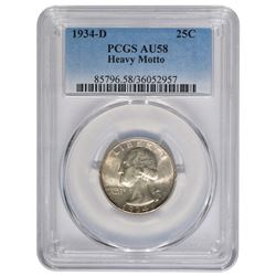 1934-D Washington Quarter PCGS AU58