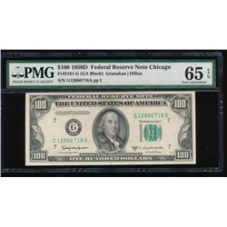 1950D $100 Chicago Federal Reserve Note PMG 65EPQ