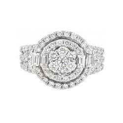 18KT White Gold 1.54ctw Diamond Ring