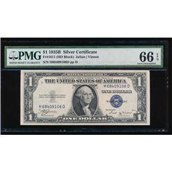 1935B $1 Silver Certificate PMG 66EPQ