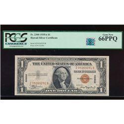 1935A $1 Hawaii Silver Certificate PCGS 66PPQ