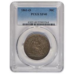 1861-O Seated Liberty Half Dollar PCGS XF40