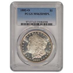 1882-O $1 Morgan Silver Dollar Coin PCGS MS63DMPL