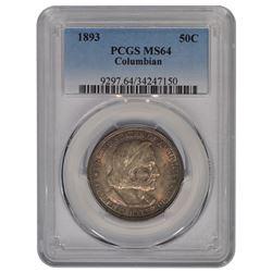 1893 Columbian Exposition Half Dollar Coin PCGS MS64