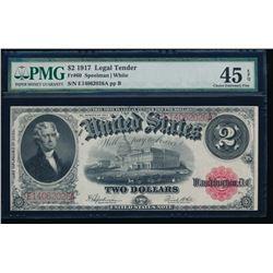 1917 $2 Legal Tender Note PMG 45EPQ