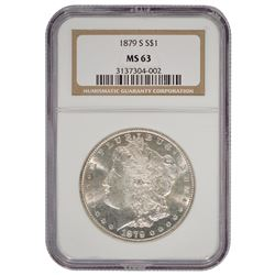 1879-S $1 Morgan Silver Dollar Coin NGC MS63