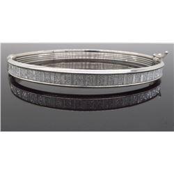 Sterling Silver Glitter Bangle Bracelet