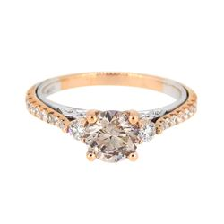 18KT Two Tone Gold 1.01ct Fancy Brown Diamond Ring