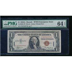 1935A $1 Hawaii Silver Certificate PMG 64EPQ