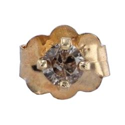 14KT Yellow Gold Diamond Earring