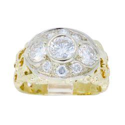 14KT Yellow Gold 1.43ctw Diamond Ring