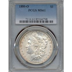 1880-O $1 Morgan Silver Dollar Coin PCGS MS61