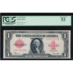 1923 $1 Legal Tender Note PCGS 53