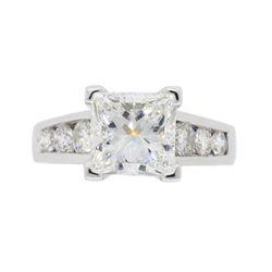 Platinum 2.01ct GIA Cert Diamond Ring