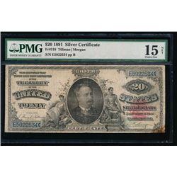 1891 $20 Silver Certificate PMG 15 NET