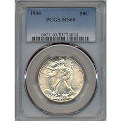 1944 Walking Liberty Half Dollar Coin PCGS MS65
