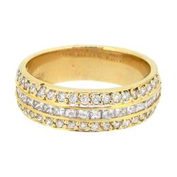 14KT Yellow Gold 0.85ctw Diamond Ring