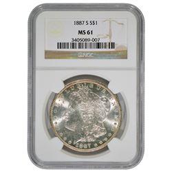 1887-S $1 Morgan Silver Dollar Coin NGC MS61