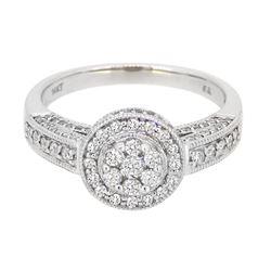 14KT White Gold 0.95ctw Diamond Ring