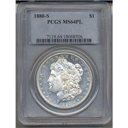 1880-S $1 Morgan Silver Dollar Coin PCGS MS64PL