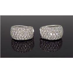 18KT White Gold 3.30ctw Diamond Earrings