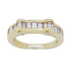 14KT Yellow Gold 1.12ctw Diamond Ring