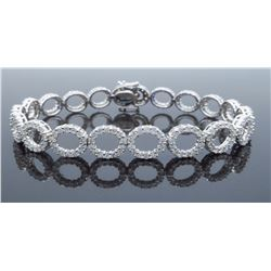 18KT White Gold 4.07ctw Diamond Bracelet