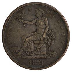1874 Trade Dollar Coin