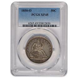 1850-O Seated Liberty Half Dollar Coin PCGS XF45