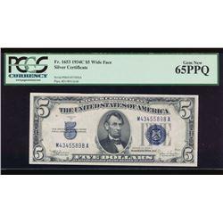 1934C $5 Silver Certificate PCGS 65PPQ