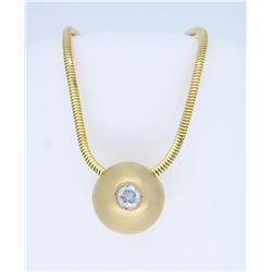 14K Yellow Gold 0.25ct Diamond Pendant with Chain