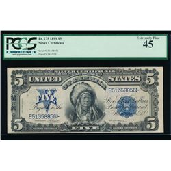 1899 $5 Chief Silver Certificate PCGS 45