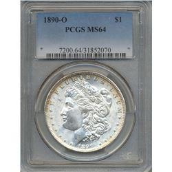 1890-O $1 Morgan Silver Dollar Coin PCGS MS64