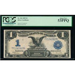 1899 $1 Black Eagle Silver Certificate PCGS 53PPQ