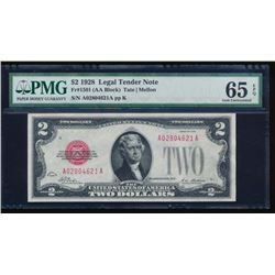 1928 $2 Legal Tender Note PMG 65EPQ