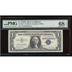 1957B $1 Silver Certificate Star Note PMG 68EPQ
