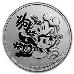 2018 $2 Disney Lunar Year of the Dog Niue Silver Coin