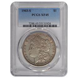 1903-S $1 Morgan Silver Dollar Coin PCGS XF45