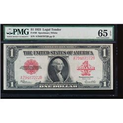 1923 $1 Legal Tender Note PMG 65EPQ