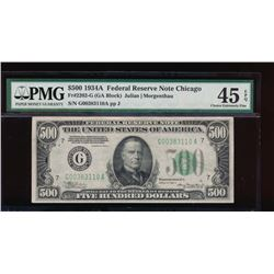 1934A $500 Chicago Federal Reserve Note PMG 45EPQ