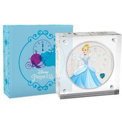 2018 $2 Disney Cinderella with Gemstone Silver Niue Coin
