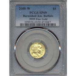2008-W $5 Buffalo Gold Coin PCGS SP69