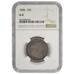 1806 Draped Bust Quarter Coin NGC G4