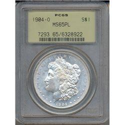 1904-O $1 Morgan Silver Dollar Coin PCGS MS65PL