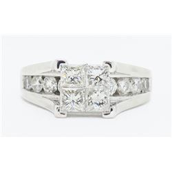 14KT White Gold 2.00ctw Diamond Ring