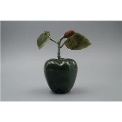 "A Dushan Jade ""Apple"" Decoration."