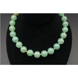 A Grade-A Jade Bead Necklace.