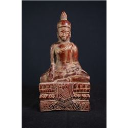 17th Century Lacquer Wood Buddha Statue